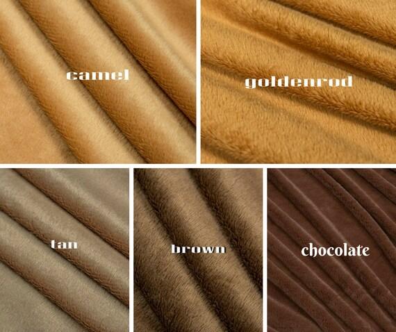 Soft Plush Cuddlesoft Velboa Fleece Fabric CHOCOLATE