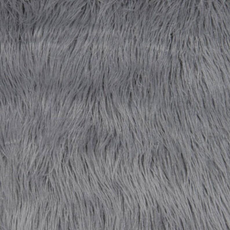 Curly teddy fourrure synthétique tissu matériau-gris argent