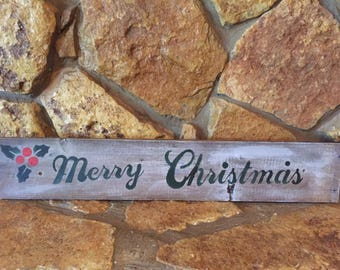 Merry chriatmas rustic sign