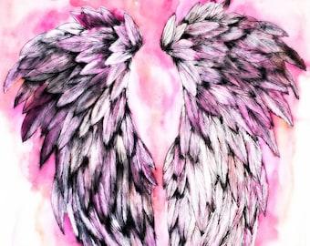 Pink Angel Wings II