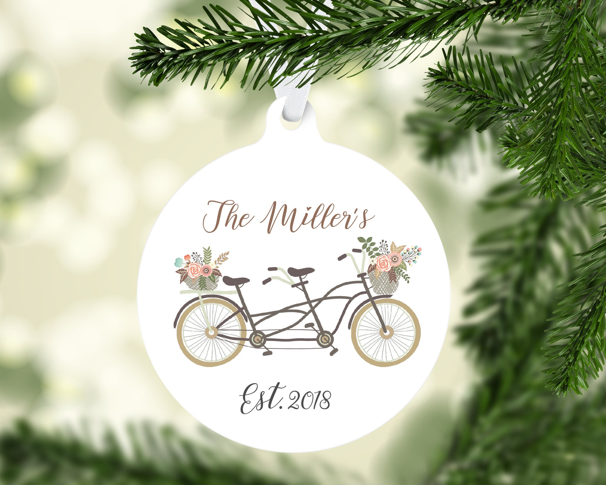 Personalized Just Married | Ornament | Holiday | Custom