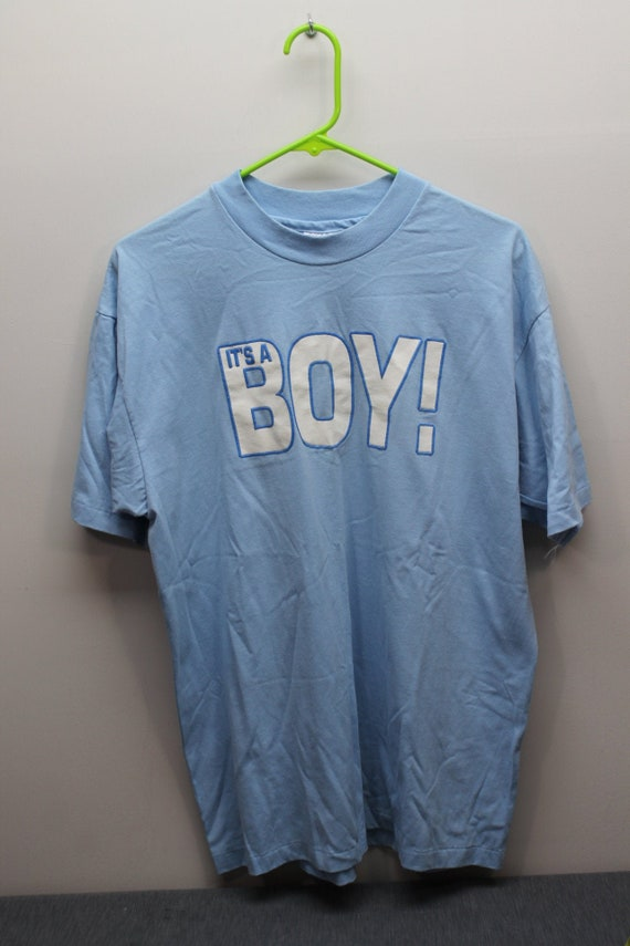 Vintage It's a Boy T-shirt Fatherhood Expectant Fa