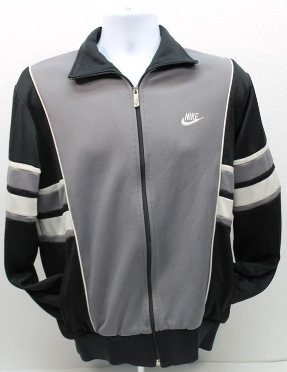 7925a06ea6 Vintage 1980s 80s RARE Nike 42 44 Medium Blue Black Grey Gray