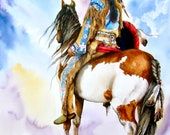 Into The Promised Land - LARGE CANVAS Print - Native American Indian - pony - western - by Peter Williams ready to hang.