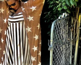 Stars Knit Kimono