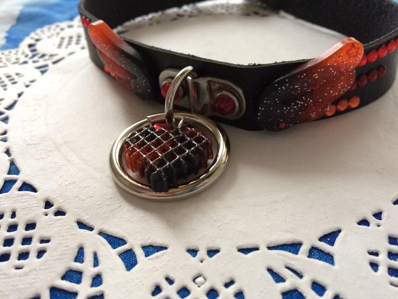 Leather Ring Choker Genji Oni Inspired