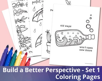 Build a Better Perspective - Set 1, Coloring Sheets, Coloring Pages, Printables, PDF