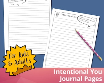 Intentional You Journal Pages, Planner Pages, Journaling Prompts