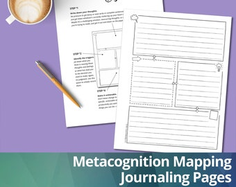 Metacognition Mapping Journal: Metacognition Mapping Pages, Instant Download, Printable