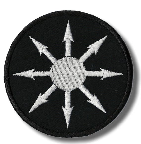 Macedonian star 8x8 cm embroidered patch