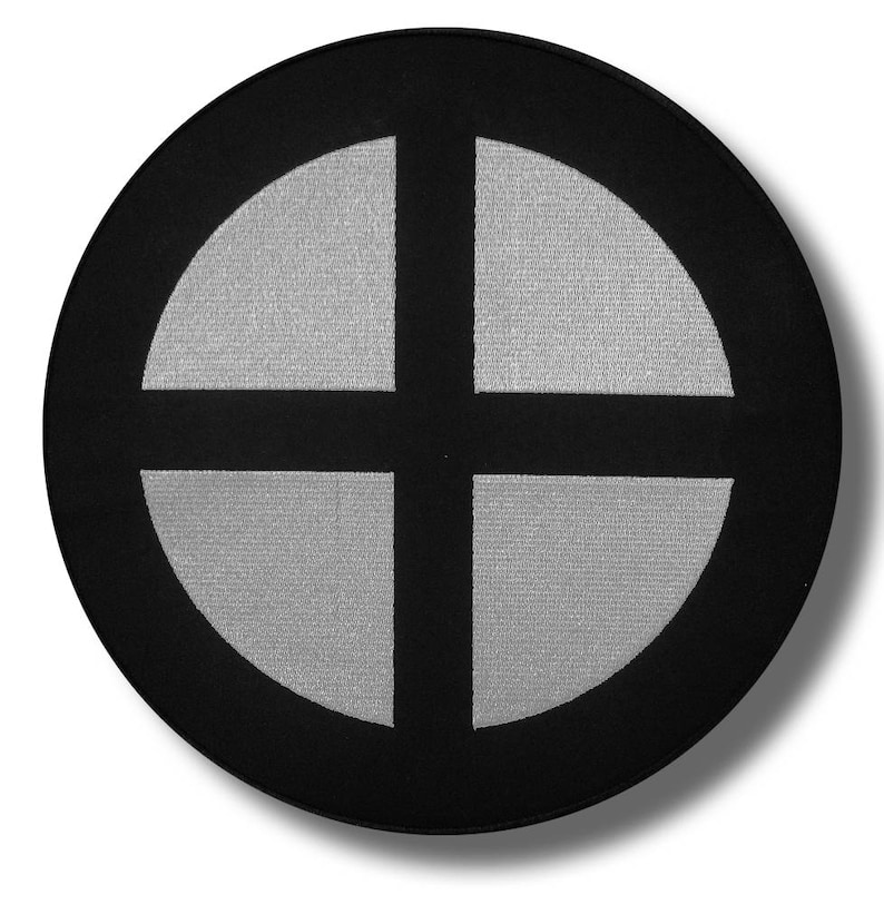 28x28 cm Gnostic cross embroidered back patch