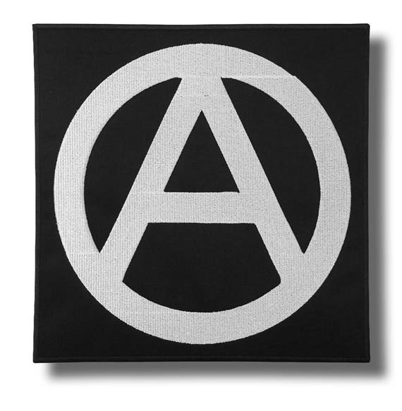 Anarchy Symbol Embroidered Back Patch 28x28 Cm Etsy