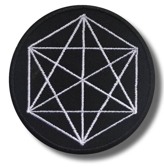 bordado parche 8 x 8 cm Sacred geometry