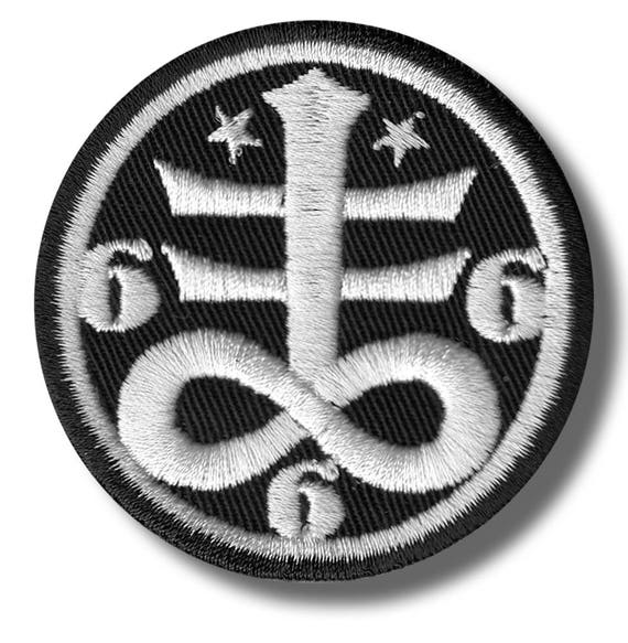 Occult Satanic Symbol Embroidered Patch 6x6 Cm Etsy