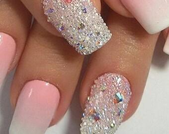 3d Crystal Clear Rhinestone Nail Art Cute Glitter Diy Decoration