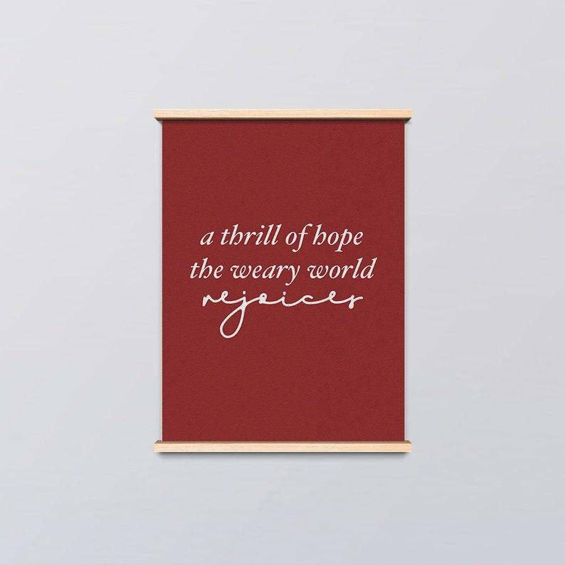 A Thrill Of Hope Art Print Livingroom Art Digital Download Etsy