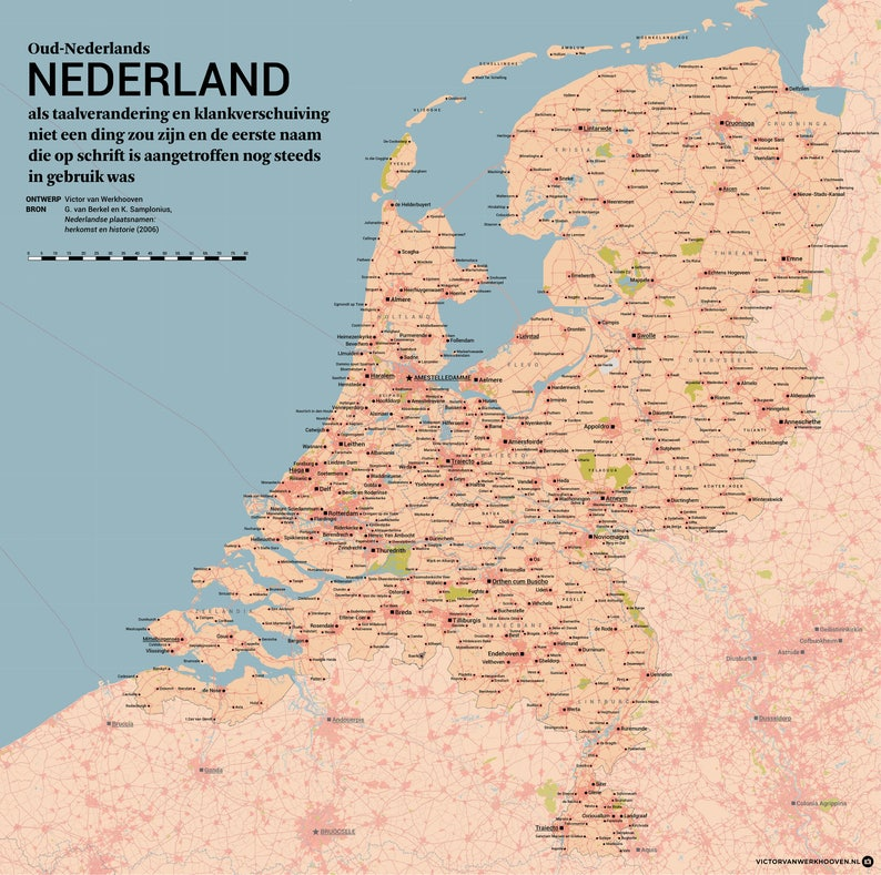 Old Dutch Netherlands: If place names would never change and image 0