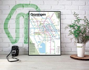 Groningen Metro Transit Map