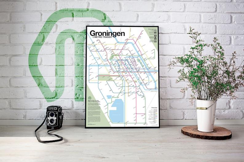 Groningen Metro Transit Map image 0