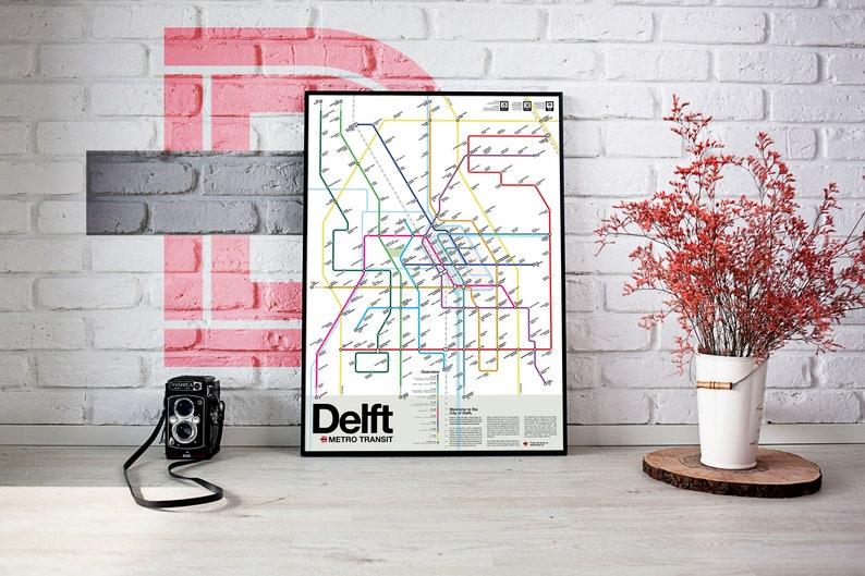 Delft Metro Transit Map image 1