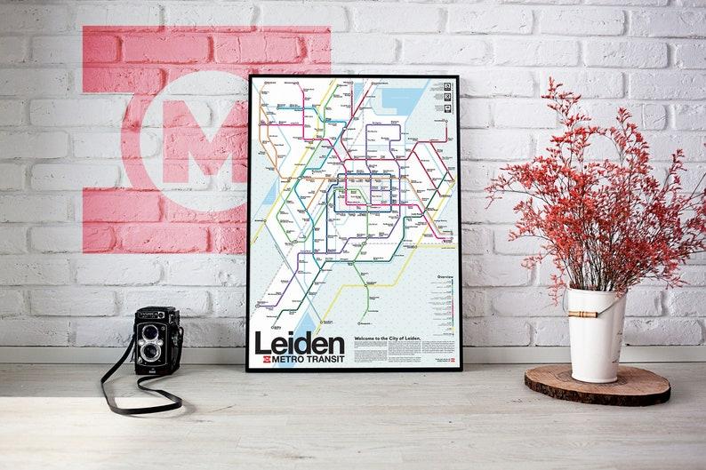 Leiden Metro Transit Map image 1