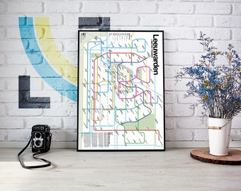 Leeuwarden Metro Transit Map
