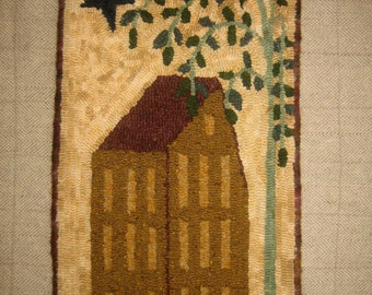 """Rug Hooking Kit """"Willow's House"""", 18.5"""" x 10.5"""""""