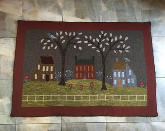 """Rug Hooking Pattern """"Country Life"""""""