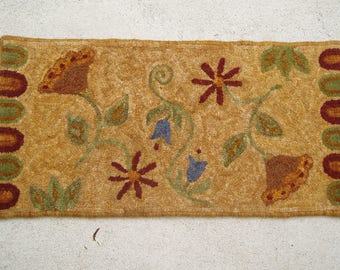 "Rug Hooking Kit ""Leslie's Hope"", 25""x12"", primitive rug hooking"