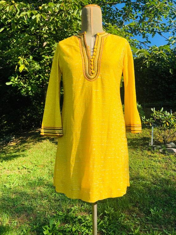 Lamé Yellow Dress