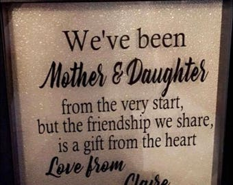 Mother daughter box frame
