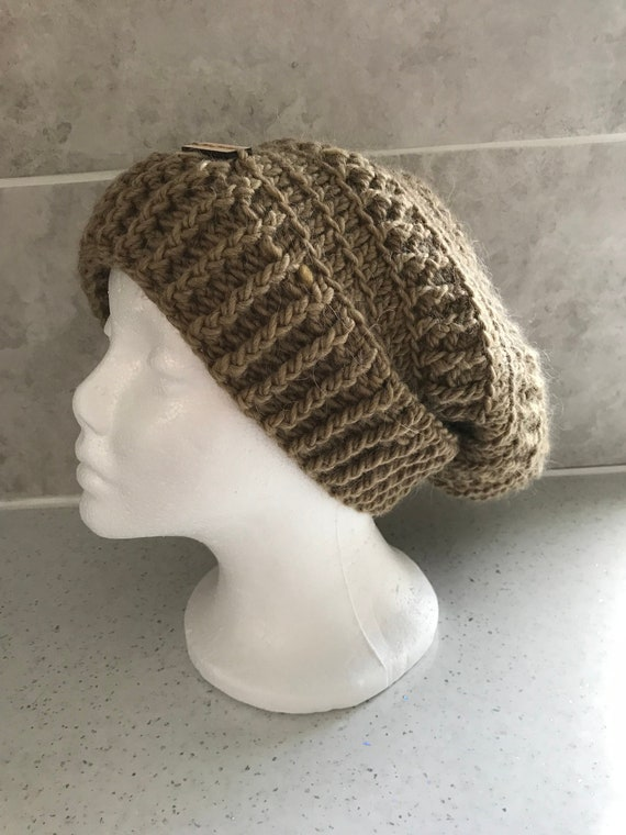 6139b87db5b MADE TO ORDER Handmade Crochet Slouchy Beanie Winter Hat