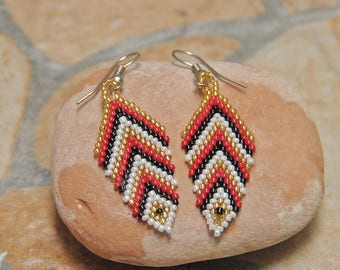 Boho Earrings,Beaded Earrings,Miyuki Beaded Earrings,Beaded Jewelry, Ethnic Earrings,Bali Jewelry,Ethnic Jewelry,Bohemian Earrings, seedbead