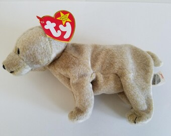 Ty Beanie Baby - ALMOND  (1 Tag Error) (Retired)