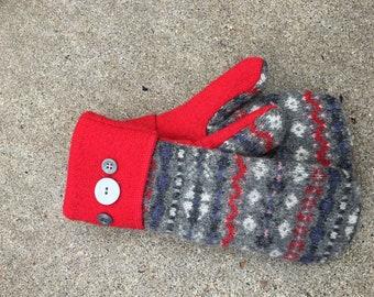 Recycled Sweater Mittens Etsy