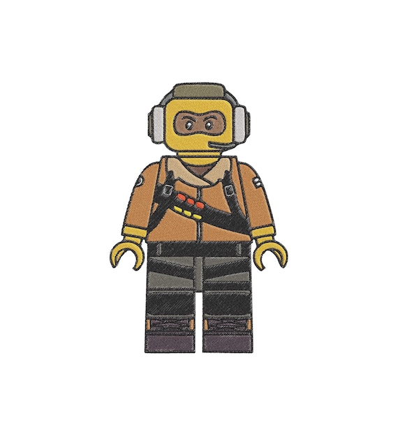 The Lego Ninjago Movie Raptor Fill Embroidery Design Instant Download