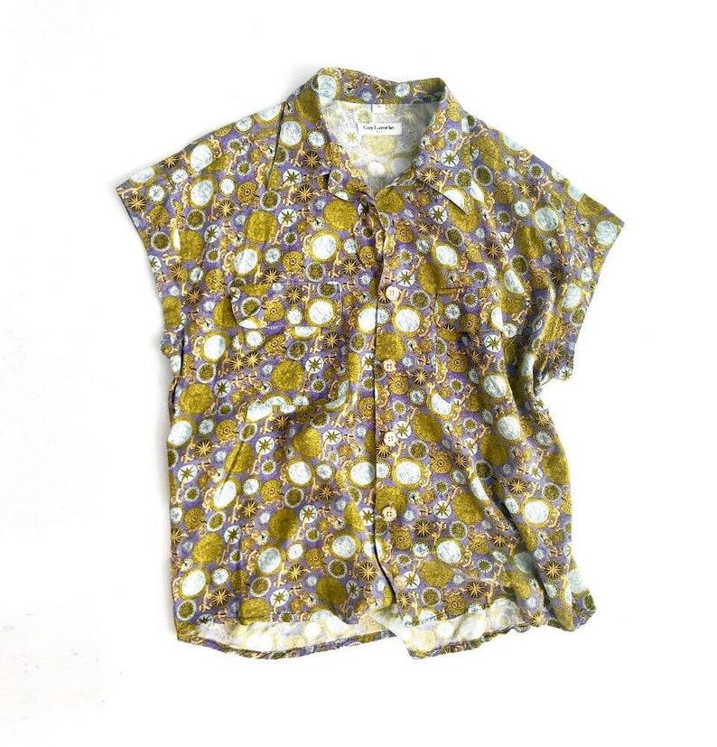Vintage Guy Laroche compass print shirt