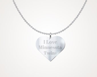 Minnesota Twins Sterling Silver Necklace Pendant MLB Jewelry