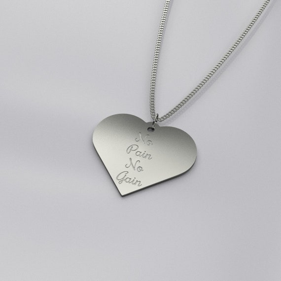 "pendant NA  Solid 925 Sterling Silver Charm /""Easy Does it/""  AA"