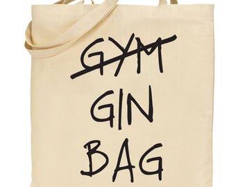 GYM GIN BAG lightweight cotton tote bag, shopping bag, reusable bag f49aa81aac