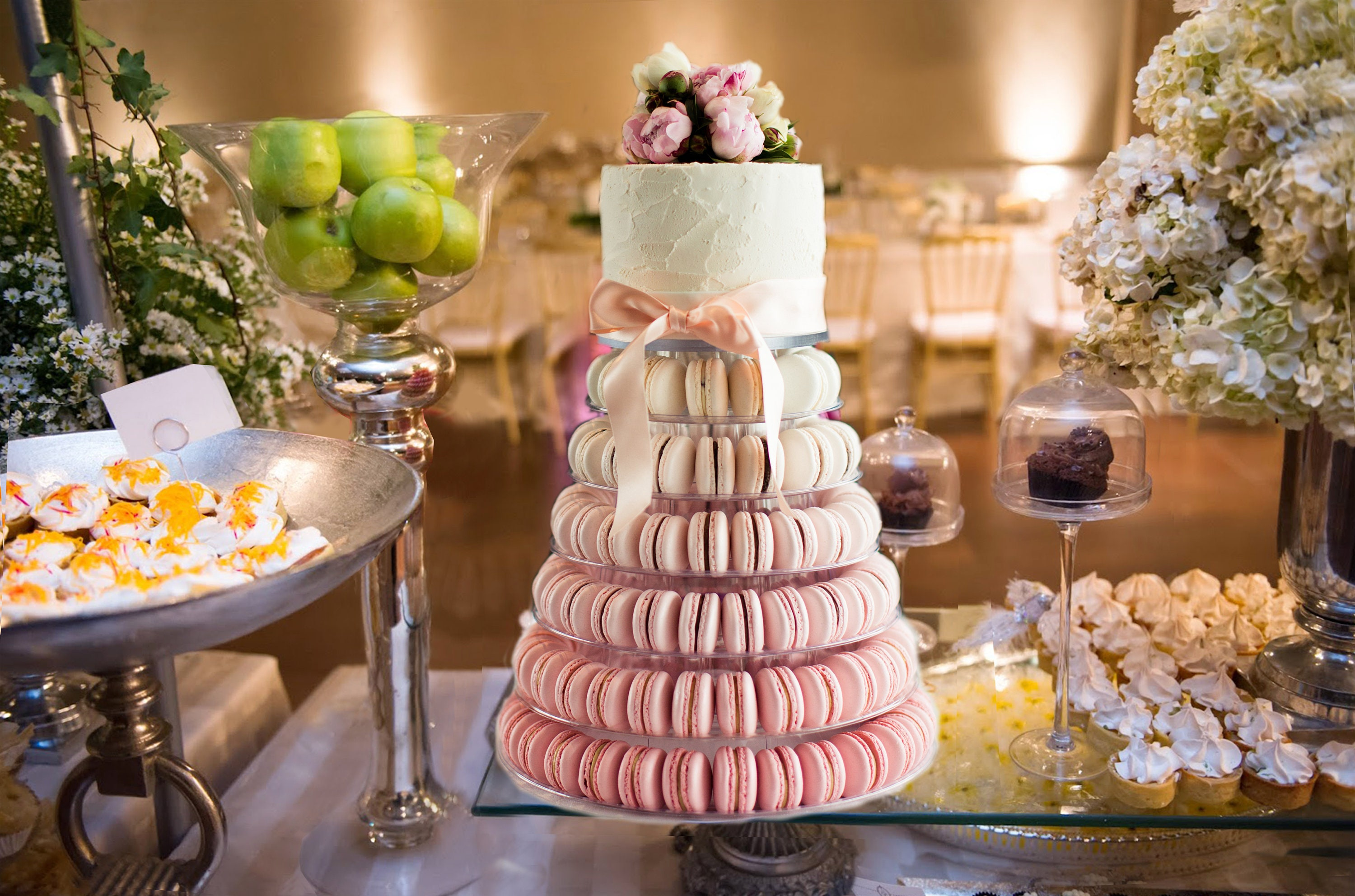 6 Tier Macaron Tower Cake Stand With Cake Plate Topper Etsy
