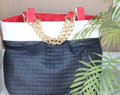 Santa Clara (Quilted lambskin, patent leather and suede market tote)