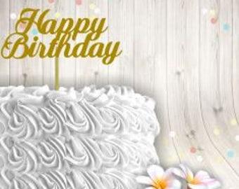 Happy Birthday Cake Topper svg, Happy Birthday Cupcake Topper svg, Happy Birthday, Cupcake, ScrapBooking Digital Download, beginner svg