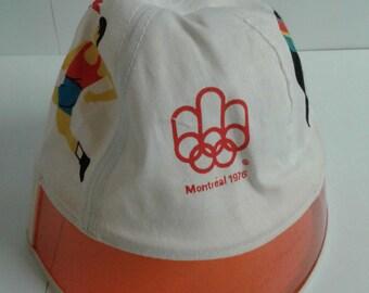 ecddb45a Vintage 1976 Montreal Olympics Flamingo Bucket Hat Plastic Visor New Size M  (1)