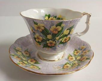 Royal Albert Bone China England Festival Series Adelphi Tea Cup and Saucer