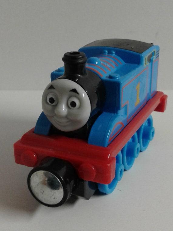 2013 THOMAS /& FRIENDS #1 THOMAS BLUE TRACKMASTER MOTORIZED TRAIN ENGINE