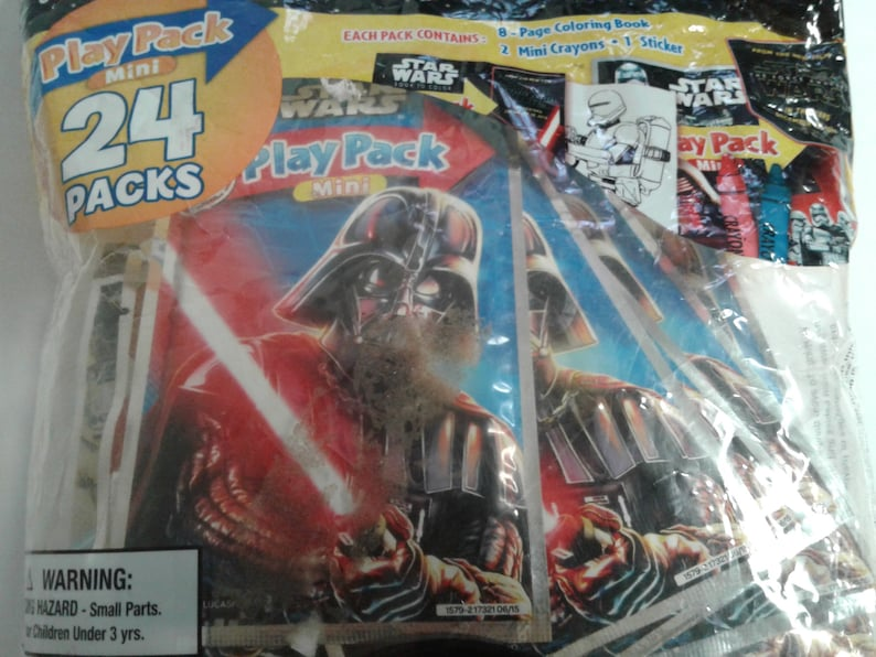 Coloring Book Crayons /& Stickers Star Wars Giveaways Party Favors Play Pack Mini 24 Packs