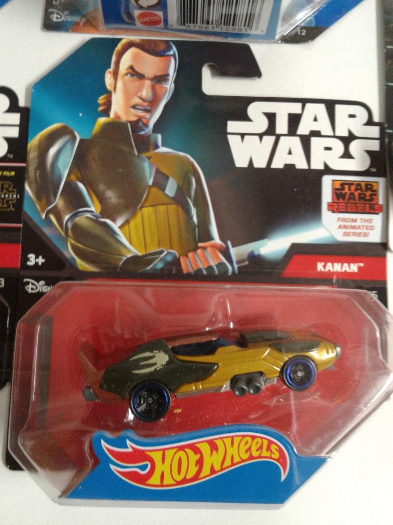 Lot of 5 Mattel 2014 NIP Disney\u2019s STAR WARS Hot-Wheels Cars 1:64 Scale