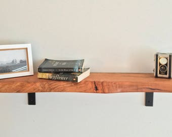 Live Edge Wood Cherry Shelf