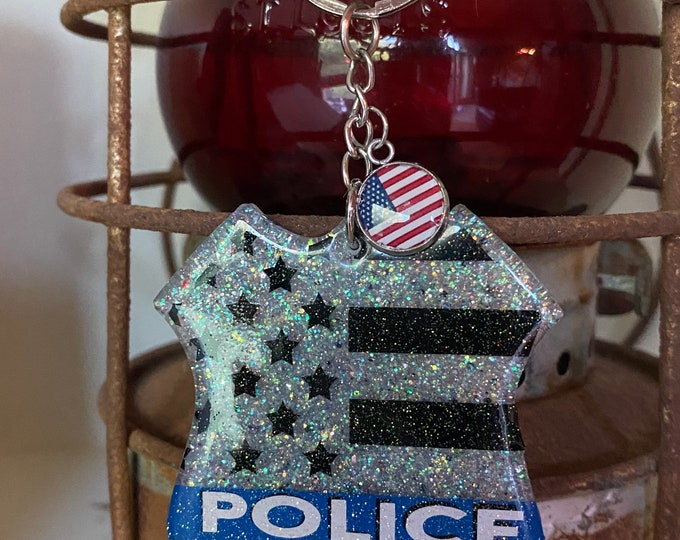 Police Badge Key Chain, Hero Badge Key Chain, Key Chain, Made to order, Hand Made, personalization, Unique Gift, Great Gift